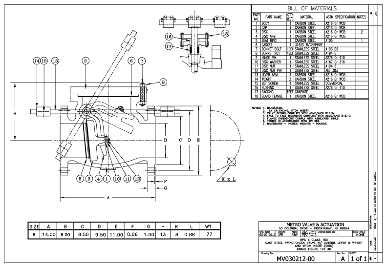 Metro Valve Amp Actuation As Built Drawings