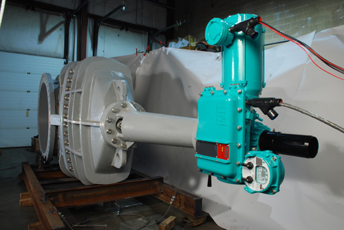 "Main Sewarage Isolation Gate Valve (5-48"" and 5-36"")  with Emerson-EIM Submersible Actuators"